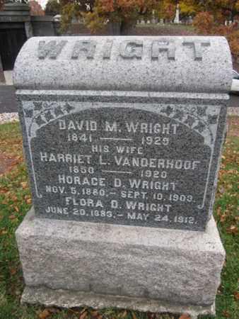 WRIGHT, DAVID M. - Morris County, New Jersey | DAVID M. WRIGHT - New Jersey Gravestone Photos