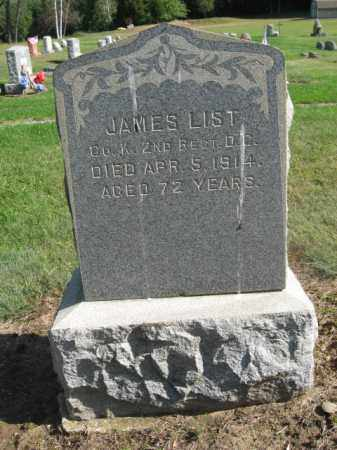 LIST, JAMES - Morris County, New Jersey | JAMES LIST - New Jersey Gravestone Photos