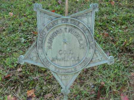 NICHOLAS, MANNING B. - Morris County, New Jersey | MANNING B. NICHOLAS - New Jersey Gravestone Photos