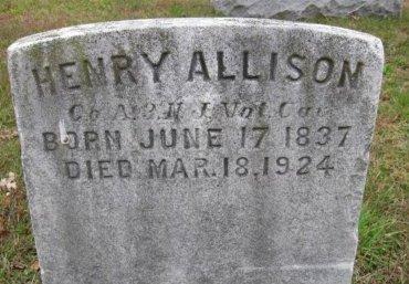 ALLISON, HENRY - Ocean County, New Jersey   HENRY ALLISON - New Jersey Gravestone Photos