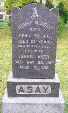 ASAY, HENRY M. - Ocean County, New Jersey | HENRY M. ASAY - New Jersey Gravestone Photos