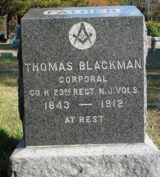 BLACKMAN, THOMAS - Ocean County, New Jersey | THOMAS BLACKMAN - New Jersey Gravestone Photos