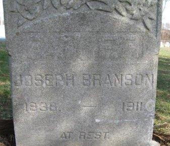 BRANSON, JOSEPH - Ocean County, New Jersey   JOSEPH BRANSON - New Jersey Gravestone Photos