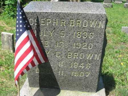 BROWN, JOSEPH R. - Ocean County, New Jersey   JOSEPH R. BROWN - New Jersey Gravestone Photos