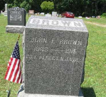 BROWN, JOHN F. - Ocean County, New Jersey   JOHN F. BROWN - New Jersey Gravestone Photos