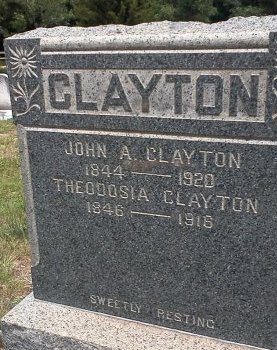 CLAYTON, JOHN ATWOOD - Ocean County, New Jersey | JOHN ATWOOD CLAYTON - New Jersey Gravestone Photos