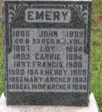 EMERY, JOHN - Ocean County, New Jersey | JOHN EMERY - New Jersey Gravestone Photos