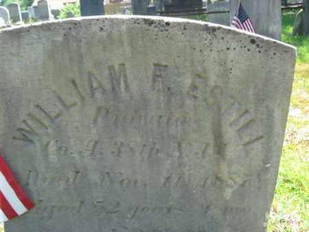 ESTILL (ESTELL), WILLIAM F. - Ocean County, New Jersey   WILLIAM F. ESTILL (ESTELL) - New Jersey Gravestone Photos