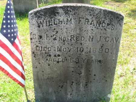 FRANCES (FRANCIS), WILLIAM - Ocean County, New Jersey | WILLIAM FRANCES (FRANCIS) - New Jersey Gravestone Photos