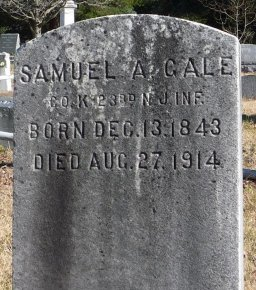 GALE, SAMUEL A. - Ocean County, New Jersey | SAMUEL A. GALE - New Jersey Gravestone Photos
