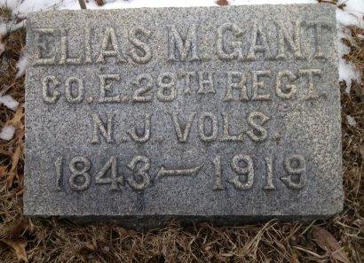 GANT, ELIAS M. - Ocean County, New Jersey   ELIAS M. GANT - New Jersey Gravestone Photos