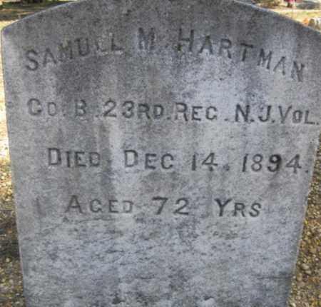 HARTMAN, SAMUEL M. - Ocean County, New Jersey   SAMUEL M. HARTMAN - New Jersey Gravestone Photos