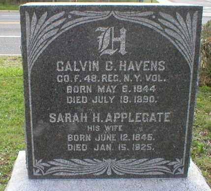 HAVENS, CALVIN C. - Ocean County, New Jersey | CALVIN C. HAVENS - New Jersey Gravestone Photos