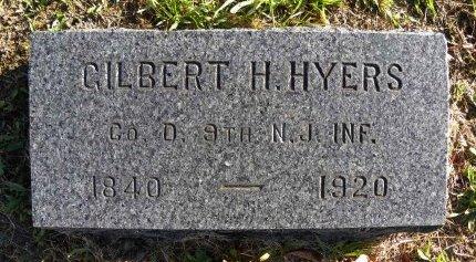 HYERS (HEYERS), GILBERT H. - Ocean County, New Jersey | GILBERT H. HYERS (HEYERS) - New Jersey Gravestone Photos