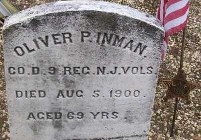 INMAN, OLIVER P. - Ocean County, New Jersey | OLIVER P. INMAN - New Jersey Gravestone Photos