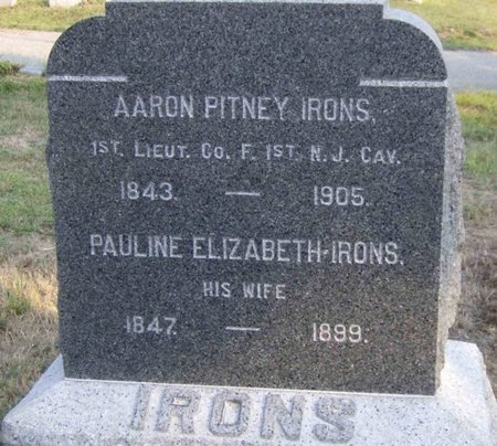 IRONS, AARON PITNEY - Ocean County, New Jersey | AARON PITNEY IRONS - New Jersey Gravestone Photos