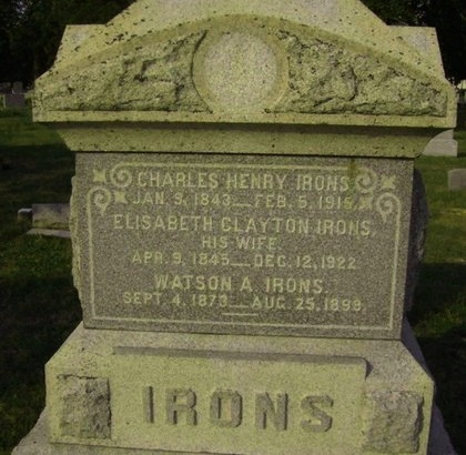 IRONS, CHARLES HENRY - Ocean County, New Jersey | CHARLES HENRY IRONS - New Jersey Gravestone Photos
