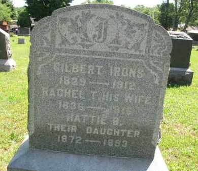 IRONS, GILBERT - Ocean County, New Jersey | GILBERT IRONS - New Jersey Gravestone Photos