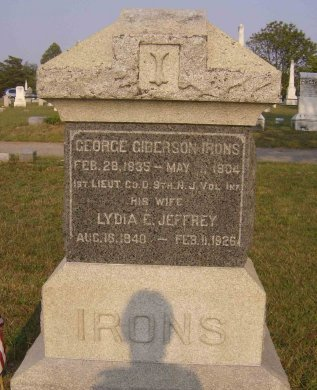 IRONS, GEORGE GIBERSON - Ocean County, New Jersey | GEORGE GIBERSON IRONS - New Jersey Gravestone Photos