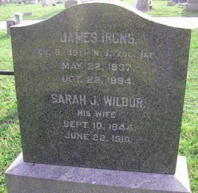 IRONS, JAMES - Ocean County, New Jersey   JAMES IRONS - New Jersey Gravestone Photos