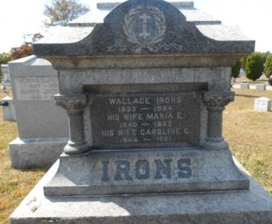 IRONS, WALLACE - Ocean County, New Jersey | WALLACE IRONS - New Jersey Gravestone Photos