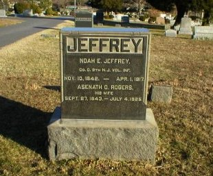 JEFFERY, NOAH E. - Ocean County, New Jersey | NOAH E. JEFFERY - New Jersey Gravestone Photos