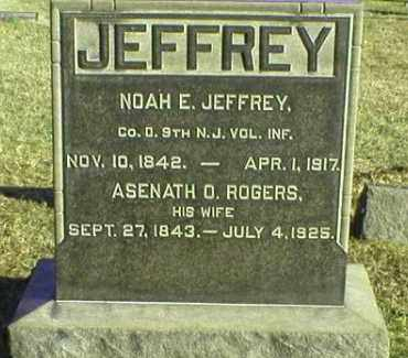 JEFFREY, NOAH E. - Ocean County, New Jersey | NOAH E. JEFFREY - New Jersey Gravestone Photos