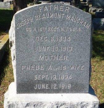 MAUGHAM, JOSEPH BEAUMONT - Ocean County, New Jersey | JOSEPH BEAUMONT MAUGHAM - New Jersey Gravestone Photos