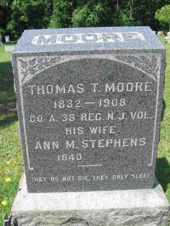 MOORE, THOMAS T. - Ocean County, New Jersey   THOMAS T. MOORE - New Jersey Gravestone Photos