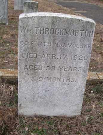 THROCKMORTON, WILLIAM - Ocean County, New Jersey | WILLIAM THROCKMORTON - New Jersey Gravestone Photos