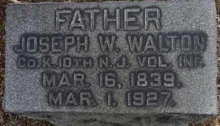 WALTON, JOSEPH W. - Ocean County, New Jersey   JOSEPH W. WALTON - New Jersey Gravestone Photos