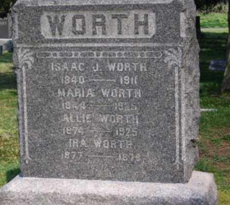 WORTH, ISAAC J. - Ocean County, New Jersey | ISAAC J. WORTH - New Jersey Gravestone Photos