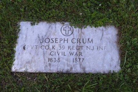 CRUM, JOSEPH - Passaic County, New Jersey   JOSEPH CRUM - New Jersey Gravestone Photos