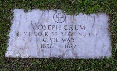 CRUM, JOSEPH - Passaic County, New Jersey | JOSEPH CRUM - New Jersey Gravestone Photos