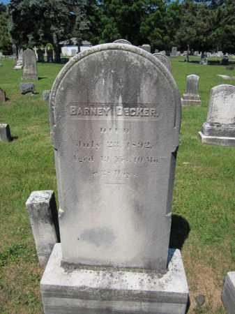 DECKER, BARNEY - Passaic County, New Jersey | BARNEY DECKER - New Jersey Gravestone Photos