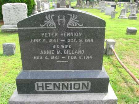 HENNION, PETER - Passaic County, New Jersey | PETER HENNION - New Jersey Gravestone Photos