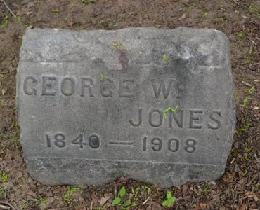 JONES, GEORGE W. - Passaic County, New Jersey | GEORGE W. JONES - New Jersey Gravestone Photos