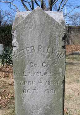 LYON, PETER R. - Passaic County, New Jersey | PETER R. LYON - New Jersey Gravestone Photos