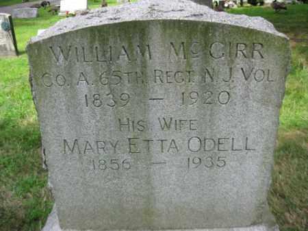 MCGIRR (MCGINN), WILLIAM - Passaic County, New Jersey   WILLIAM MCGIRR (MCGINN) - New Jersey Gravestone Photos