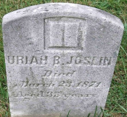 JOSLIN, URIAH B. - Salem County, New Jersey | URIAH B. JOSLIN - New Jersey Gravestone Photos