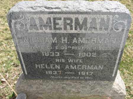 AMERMAN, WILLIAM H. - Somerset County, New Jersey | WILLIAM H. AMERMAN - New Jersey Gravestone Photos