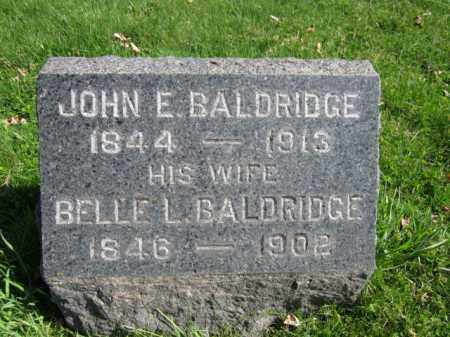 BALDRIDGE, JOHN E. - Somerset County, New Jersey | JOHN E. BALDRIDGE - New Jersey Gravestone Photos