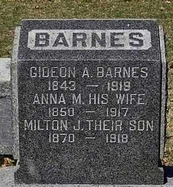 BARNES, GIDEON A. - Somerset County, New Jersey | GIDEON A. BARNES - New Jersey Gravestone Photos