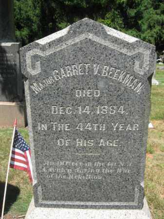 BEEKMAN, MAJOR GARRETT V. - Somerset County, New Jersey   MAJOR GARRETT V. BEEKMAN - New Jersey Gravestone Photos