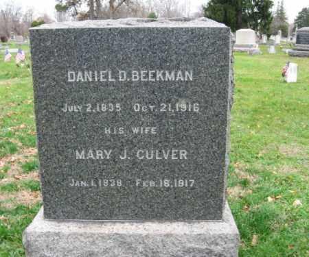 BEEKMAN, DANIEL D. - Somerset County, New Jersey | DANIEL D. BEEKMAN - New Jersey Gravestone Photos