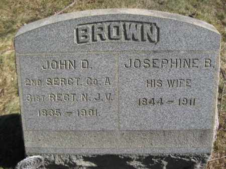 BROWN, SGT.JOHN D. - Somerset County, New Jersey | SGT.JOHN D. BROWN - New Jersey Gravestone Photos