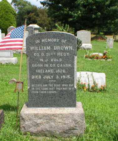 BROWN, WILLIAM - Somerset County, New Jersey | WILLIAM BROWN - New Jersey Gravestone Photos