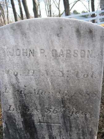 CARSON, JOHN P. - Somerset County, New Jersey | JOHN P. CARSON - New Jersey Gravestone Photos