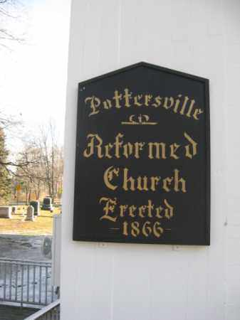 CEMETERY CHURCH SIGN, POTTERSVILLE REFORMED - Somerset County, New Jersey | POTTERSVILLE REFORMED CEMETERY CHURCH SIGN - New Jersey Gravestone Photos