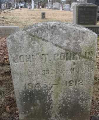 CONKLIN, JOHN T. - Somerset County, New Jersey | JOHN T. CONKLIN - New Jersey Gravestone Photos